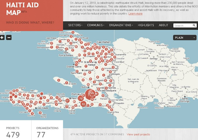 Mapping The Republic Of NGOs In Haiti - Haiti and the us map