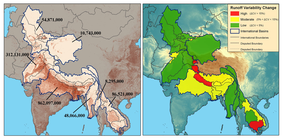Boundary Map Of Asia.Redrawing The Map Of The World S International River Basins