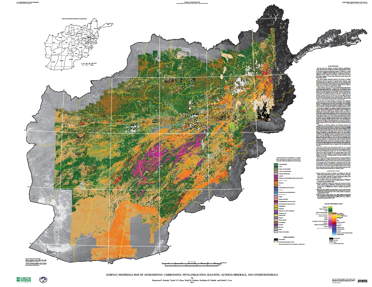 New usgs report and maps highlight afghanistans mineral potential two maps gumiabroncs Images