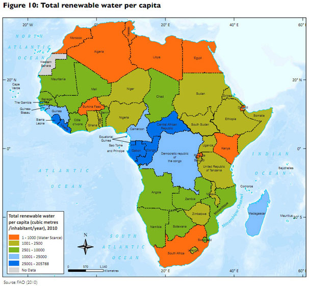 Map Of Africa 2010.Unep Highlights Environmental Impacts On Health In Africa