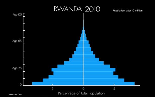 Rwanda's Population Age Structure, 2010
