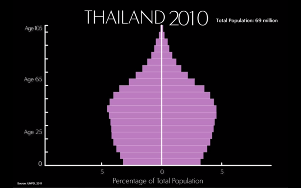 Thailand's Age Structure, 2010