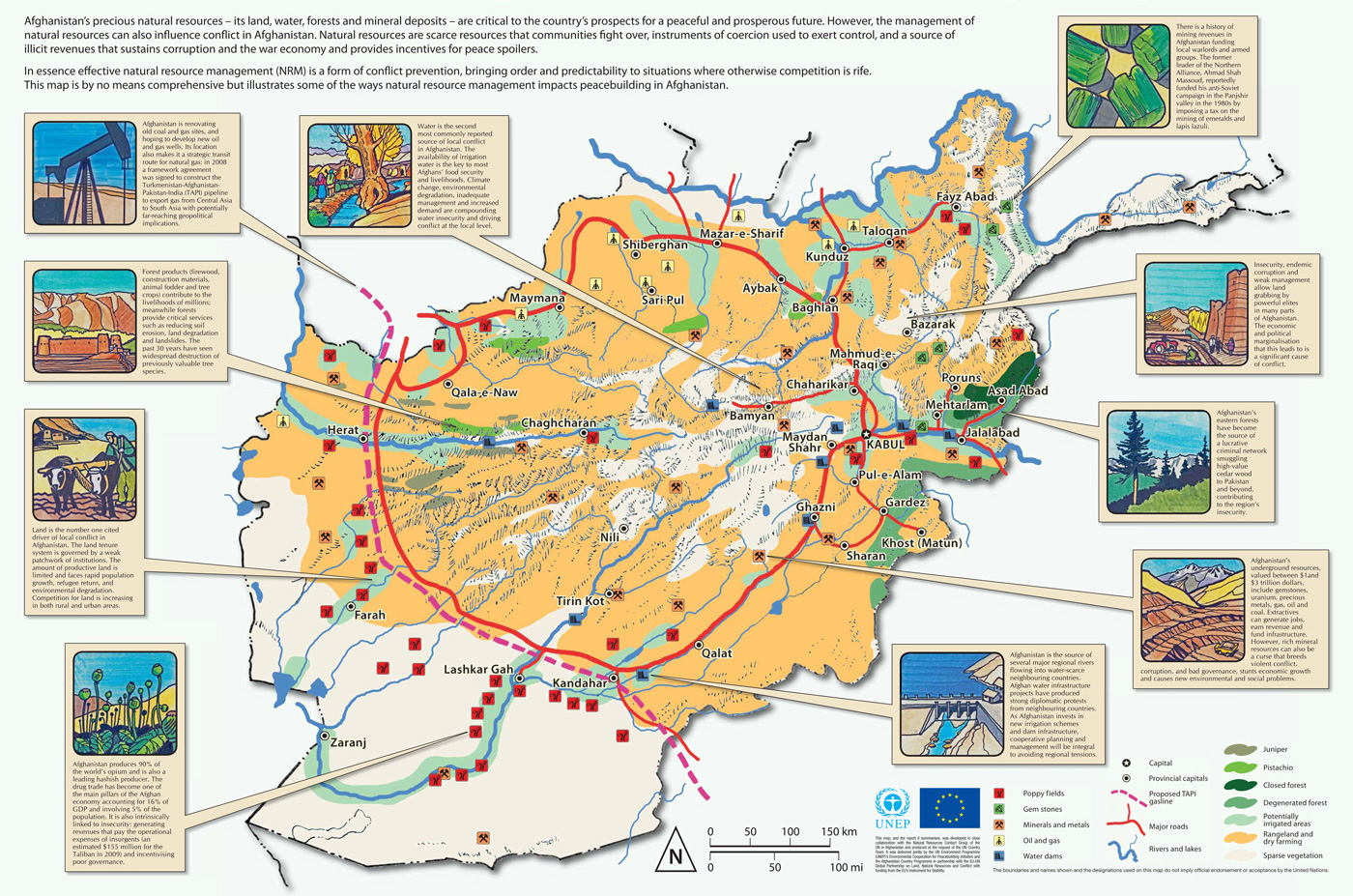 Natural Resources Of Afghanistan Map