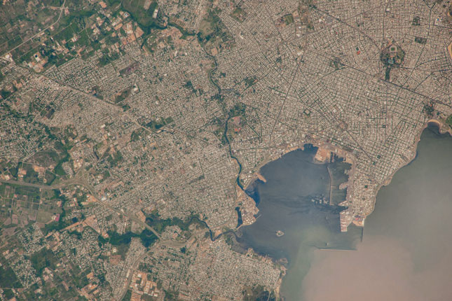 Montevideo, Uruguay from International Space Station