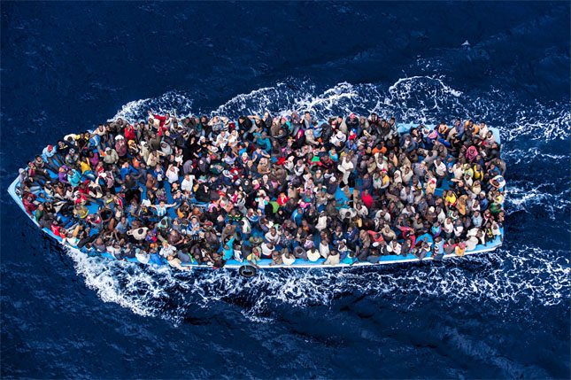 migrant fishing boat