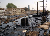 Rabak oil spill