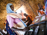 North Darfur Woman Votes in Sudanese National Elections