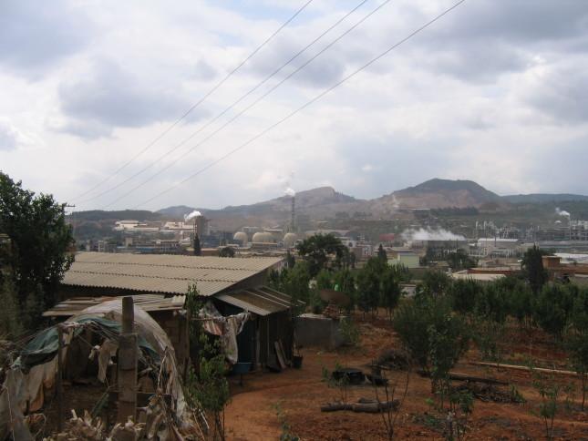 Bird's eye view of local industries, Baocun, Yunnan (2009) Courtesy of Anna Lora-Wainwright