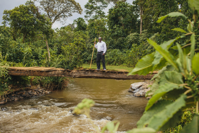 "As a child, Gordon Mumbo watched as floods disrupted life in his village. ""I grew up wanting to be a water engineer and solve the flooding,"" he says."