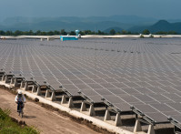 The 73-megawatt Lopburi solar power plant in central Thailand is the largest solar photovoltaic project in the world.  It will be central to Thailand's efforts to generate  energy from renewable sources.