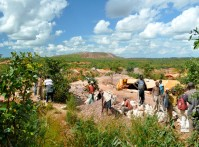 This is a Gecamines owned artisanal cobalt mining site