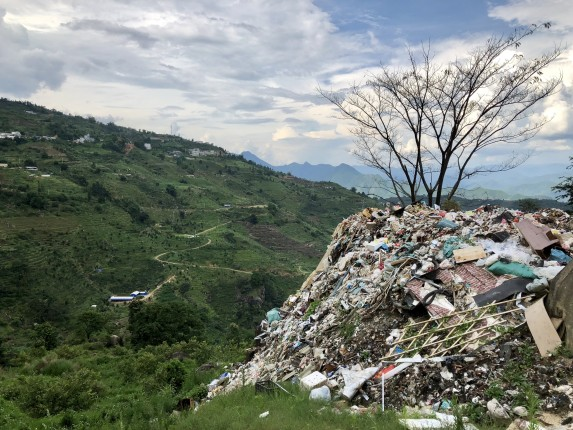 a mountain of trash