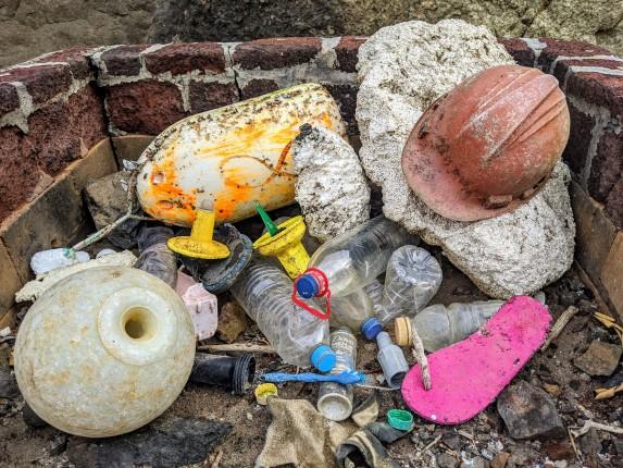 Porto Santo Island, Madeira plastic pollution polystyrene 2019