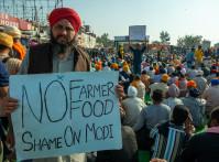 Haryana,,India,December,9,2020:,A,Sikh,Farmer,Showing,An