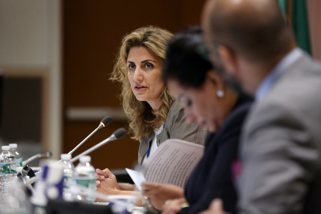 """Scenes from the Event: """"Sharing the Women, Peace & Security in the Arab Region Strategy"""" held at United Nations Headquarters on 12 October, 2015.  Organizers: League of Arab States, UN Women Read More: http://www.unwomen.org/en/news/in-focus/women-peace-security http://wps.unwomen.org/en/high-level-review Photo: UN Women/Ryan Brown"""