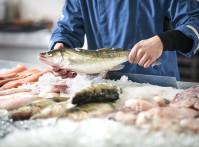 Fishmonger selling fish
