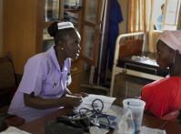 Sia Sandi, Student midwife from The School of Midwifery in Masuba, Makeni on placement at Makeni Regional Hospital, Bombali District, Sierra Leone.