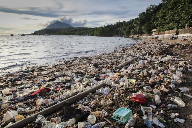 Plastic waste on Bunaken Island