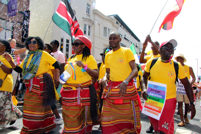 Brighton,east,Sussex/uk,04-08-18,Colourful,African,Campaigners,For,Lgbti,Liberation,To