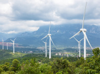 Wind,Farm,At,The,Foot,Of,Lushan,Mountain,,China
