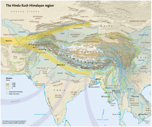 Hindu Kush Map