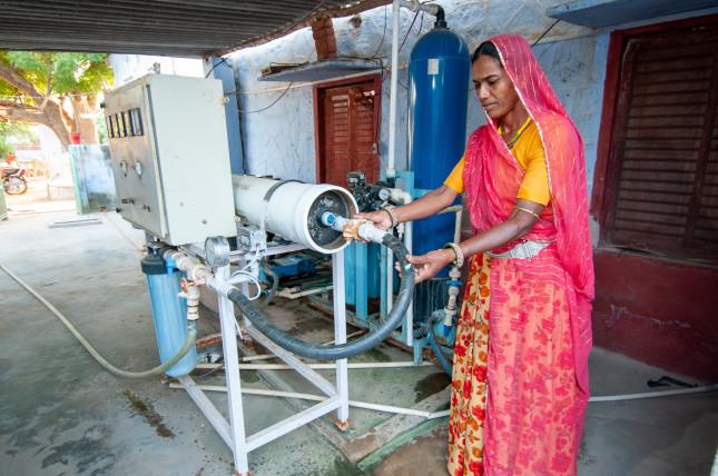 Tilonia,,Rajasthan,,India,,6,September,2011:,A,Rural,Woman,While