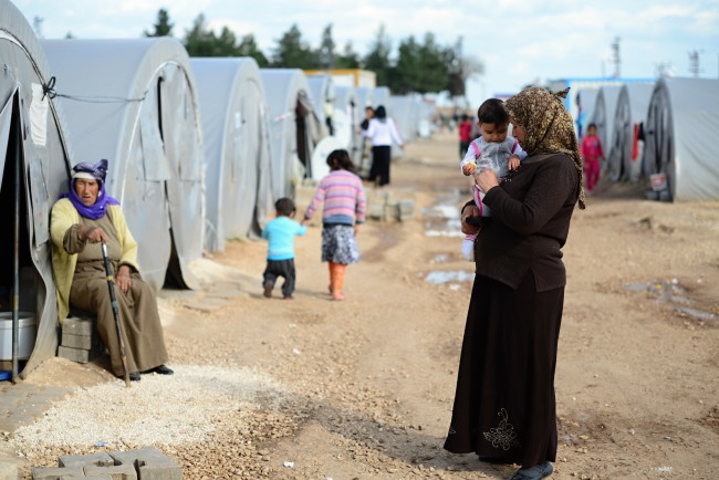 Syrian,People,In,Refugee,Camp,In,Suruc.,These,People,Are